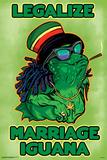 Legalize Marriage Iguana Poster