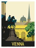 Vienna Austria - Joseph's Square (Josefsplatz) Posters by Hermann Kosel