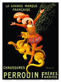 Perrouin Brothers' Shoes (Frères Chaussures) - Nantes, France - The Great French Brand Print by Leonetto Cappiello