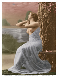 Classic Vintage French Nude - Hand-Colored Tinted Art Posters by  Pacifica Island Art