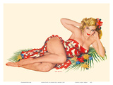 Blond Pin-Up in a Sarong - August 1951 Posters by Al Moore