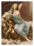 Classic Vintage French Nude - Hand-Colored Tinted Art Prints by Louis-Ame?de?e Mante