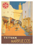 Tétouan (Tetuán) - Morocco (Marruecos) - City of the White Dove Posters by Mariano Bertuchi