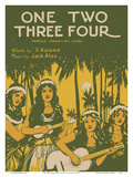 One Two Three Four - Famous Hawaiian Song - Words by S. Kalama - Music by Jack Alau Print by W.R. De Lappe