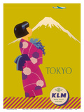 Tokyo Japan - KLM Royal Dutch Airlines Posters par Koen van Os