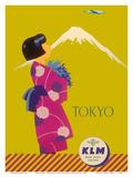 Tokyo Japan - KLM Royal Dutch Airlines Posters by Koen van Os