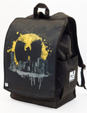Wu-Tang Clan Bat Signal Over Cityscape Backpack Backpack