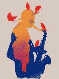 Golden Hour Jazz Plakat
