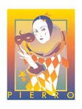 Pierrot Holding Mask Posters by David Chestnutt