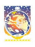Pattern on Christmas Decoration Poster by David Chestnutt
