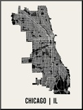 Chicago Mounted Print by  Mr City Printing
