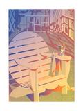 Empty Circular Bench Affischer av David Chestnutt