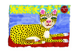 Happy Leopard Relaxing in Sun Looking at Camera Prints by Chris Corr