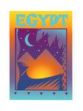 Pyramids in Egypt at Night Prints by David Chestnutt