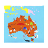 Illustrated Map of Australia Posters por Chris Corr