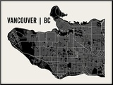 Vancouver Mounted Print by  Mr City Printing