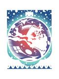 Pattern on Christmas Decoration Print by David Chestnutt