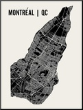 Montreal Mounted Print by  Mr City Printing