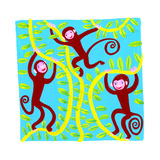 Monkeys in Tree Prints by Chris Corr