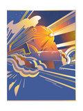 Fast Art Deco Steam Moving at Speed Prints by David Chestnutt