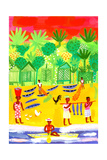 Fishermen Beach with Forest on Background Posters by Chris Corr