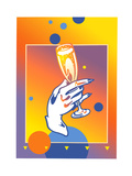 Female Hand Holding Champagne Glass Print by David Chestnutt