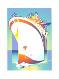 Cruise Ship at Sea Posters by David Chestnutt