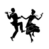 Couple Dancing on Party Prints by David Chestnutt