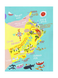 Illustrated Map of Oman Posters por Chris Corr
