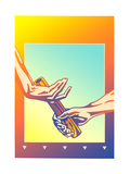 Hands Passing Baton During Relay Race Prints by David Chestnutt