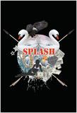 Splash Culture Black Poster