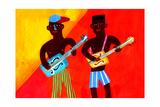 Two Men Playing Guitars Prints by Chris Corr