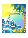 Scenic View of Town on Sea Coast Posters by David Chestnutt