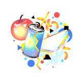 Apple and Drink Can Prints by David Chestnutt