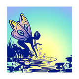Thumbelina Drinking Water from Pond Posters by David Chestnutt