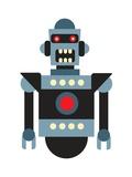 Robot on White Premium Giclee Print by Matthew Laznicka