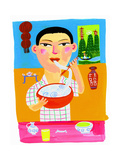 Chinese Teenage Boy Eating Bowl of Noodle Soup Pósters por Chris Corr