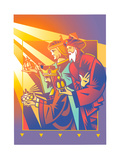 Three Kings or Wise Men Showing Gifts Posters by David Chestnutt