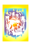Human Skull Illuminated with Candles Prints by David Chestnutt
