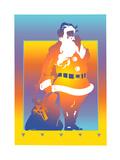 Illustration of Santa Claus Poster by David Chestnutt