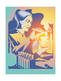Scientist Mixing Chemicals in Laboratory Posters by David Chestnutt