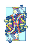 Playing Card with King Holding Pancakes Art by David Chestnutt