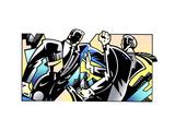 Conflict Between Two Businessmen Prints by David Chestnutt