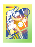 Illustration of Tennis Player Prints by David Chestnutt