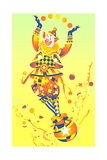 Clown Juggling Balls Art by David Chestnutt