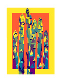 Colorful Asparagus Posters by David Chestnutt