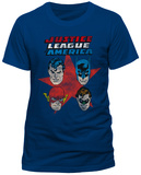 Justice League Comics - 4 Faces T-shirts