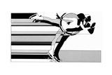 Art Deco Couple Figure Skating Affiches par David Chestnutt