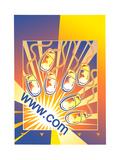Illustration of Computer Mice Posters av David Chestnutt