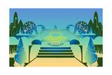 Illustration of Ornamental Garden Posters by David Chestnutt